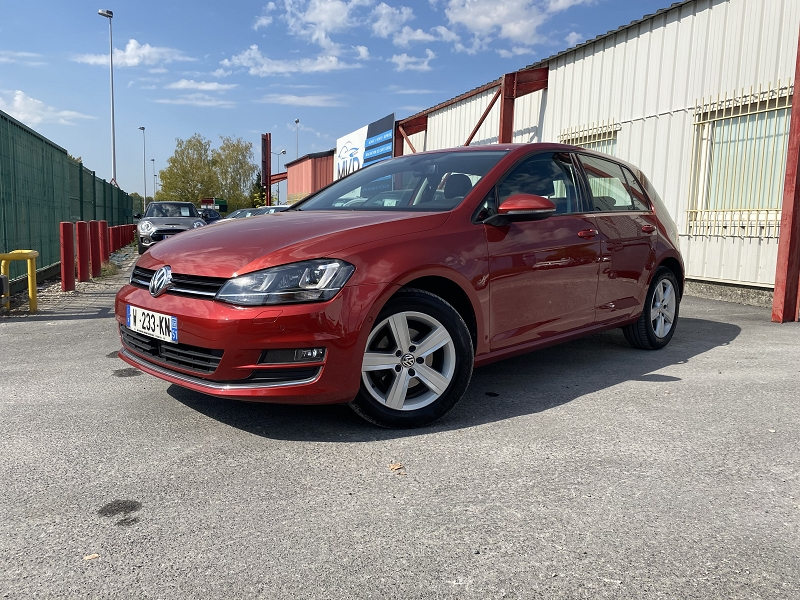 Volkswagen GOLF VII 1.2 TSI 110CH BLUEMOTION TECHNOLOGY CARAT DSG7 5P Essence SUNSET RED METALLI Occasion à vendre